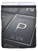 Phosphorus Chemical Element Duvet Cover
