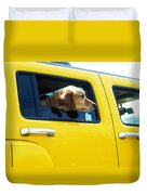 Yellow With Lab Duvet Cover