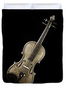 Photograph Of A Complete Viola Violin In Sepia 3368.01 Duvet Cover
