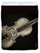 Photograph Of A Complete Viola Violin In Sepia 3370.01 Duvet Cover