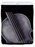 Photograph Of A Upper Body Viola Violin In Sepia 3369.01 Duvet Cover
