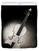 Photograph Of A Viola Violin Spotlight In Sepia 3375.01 Duvet Cover
