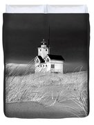 Photograph Of The Lighthouse Big Red In Holland Michigan Duvet Cover