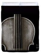 Photograph Or Picture Violin Viola Body In Sepia 3367.01 Duvet Cover