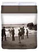 Photographer On The Beach California  Circa 1887 Duvet Cover