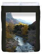 Photographing Zion National Park Duvet Cover