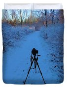 Photography In The Winter Duvet Cover
