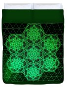Photon Interference Fractal Duvet Cover