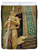 Phra Mondhop At Thai Pagoda At Grand Palace Of Thailand In Bangkok  Duvet Cover