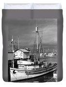 Phyllis Purse-seiner Monterey Wharf California  Circa 1940 Duvet Cover