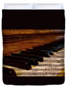 Piano And Music Duvet Cover
