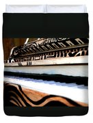 Piano In The Dark - Music By Diana Sainz Duvet Cover