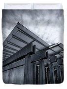 Piano Pavilion Bw Duvet Cover