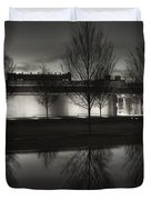 Piano Pavilion Bw Reflections Duvet Cover