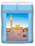Piazza Del Campo In Siena Duvet Cover