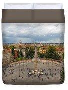 Piazza Del Popolo - Impressions Of Rome Duvet Cover