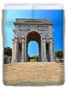 Piazza Della Vittoria - Genova. Italy Duvet Cover