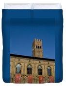 Piazza Maggiore Bologna Duvet Cover