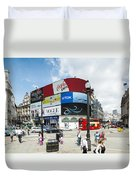 Picadilly Circus London Duvet Cover