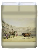 Picador Challenging The Bull, 1865 Duvet Cover