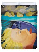 Picasso Inspired Hand Embroidery Duvet Cover