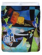 Picasso   Night Fishing At Antibes Duvet Cover