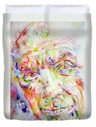Picasso Pablo Watercolor Portrait.2 Duvet Cover