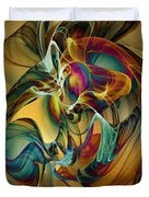 Picked Up By The Wind Duvet Cover by Klara Acel