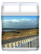 Picket Fence - Chambers Bay Golf Course Duvet Cover