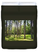 Picnic In The Pines Duvet Cover