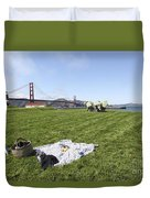 Picnicking At Golden Gate Park Duvet Cover