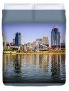 Picture Of Cincinnati Skyline And Ohio River Duvet Cover