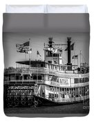 Picture Of Natchez Steamboat In New Orleans Duvet Cover by Paul Velgos
