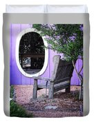 Picture Perfect Garden Bench Duvet Cover