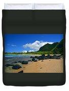 Picture Perfect Haena Beach Duvet Cover