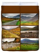 Autumn Picture Window Of The Lake District Duvet Cover