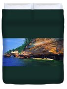 Pictured Rocks National Lakeshore, Lake Duvet Cover