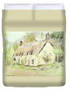 Picturesque Dunster Cottage Duvet Cover