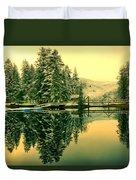 Picturesque Norway Landscape Duvet Cover