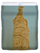 Pieced Sculpture From Perge In Antalya Archeological Museum-turkey Duvet Cover