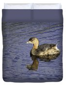 Pied-billed Grebe Duvet Cover
