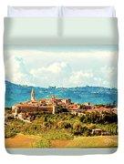 Pienza Italy Duvet Cover