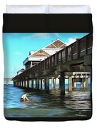 Pier 60 - Clearwater Florida  Duvet Cover