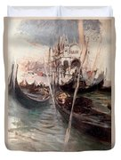 Pier And Saint Marc In Venice Duvet Cover