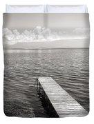 Pier At Lake Ohrid Duvet Cover