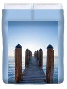 Pier By Sea Duvet Cover