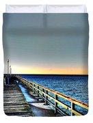 Pier - Chesapeake Bay Bridge #1 Duvet Cover