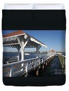 Clock Tower Pier Duvet Cover