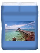 Pier Into Blue. Resort Vivanta By Taj Duvet Cover