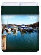 Pier Pressure - Lake Norman Duvet Cover